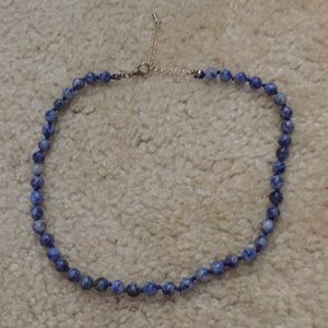 blue beaded choker